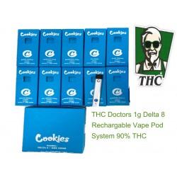 Cookies 1 gram rechargeable vape pod Delta 8 90% THC
