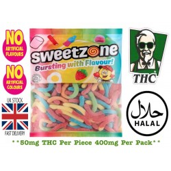 50mg THC Sour Snakes, Halal