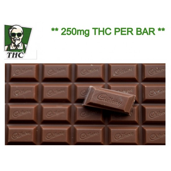 Cadburys Dairy Milk Bar - 250mg THC Distillate.