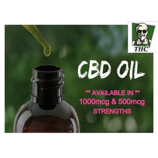 CBD Hemp Oil, 10ml Bottle, Full Spectrum CBD - 500mg