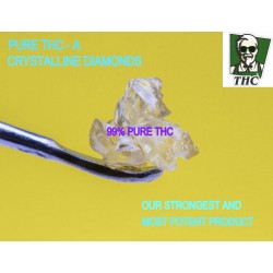 THC - A Crystalline Diamonds, 99% THC Pure, No Sauce, 0.5g