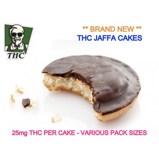 Chocolate Jaffa Cake, Various Packs - 25mg THC Per Cake