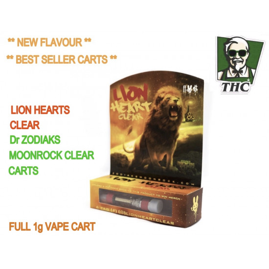 Dr Zodiaks Moonrock Carts - 1g - Lion Heart's Clear