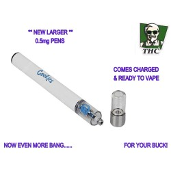 Disposable Cookie Vape Pens, 0.5mg Distillate.