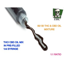 Full Spectrum THC & CBD OIL, 1ml Syringe.