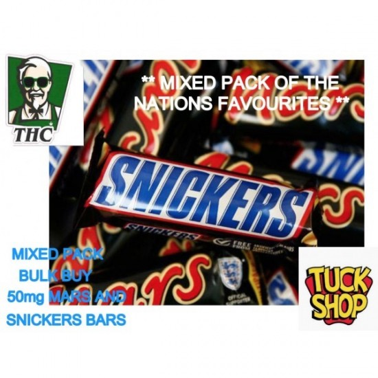Snickers and Mars Bars. 10 Bar Multi Pack, Mixed,- 50mg THC Per Bar