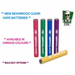 Moonrock Clear -Vape Batteries With 510 Thread, Various Colours Available