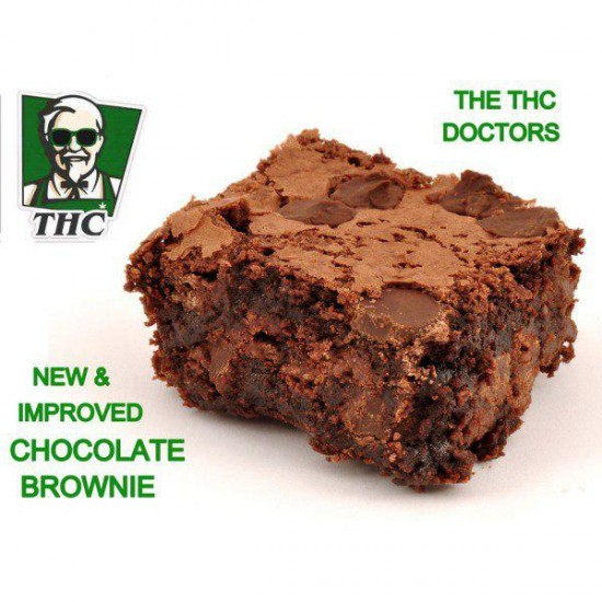 Chocolate Brownies 'Super Strong & Potent' - 150mg THC Per Piece.