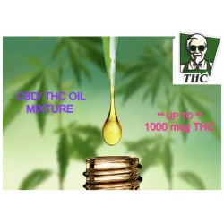 Full Spectrum CBD Oil (1000mcg) Mixed with THC Distillate (400mcg), 10ml Bottle