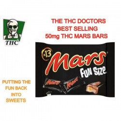 Mars Bars Fun Size, 50mg THC Distillate Per Bar