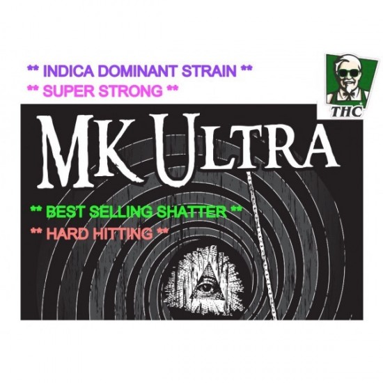 Shatter, MK Ultra - 0.5g, Canadian Import, Super High Quality
