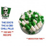 THC & CBD Chill Pills, Pack of 10 - 100mg THC