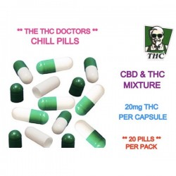 THC & CBD Chill Pills, Pack of 20 - 20mg THC