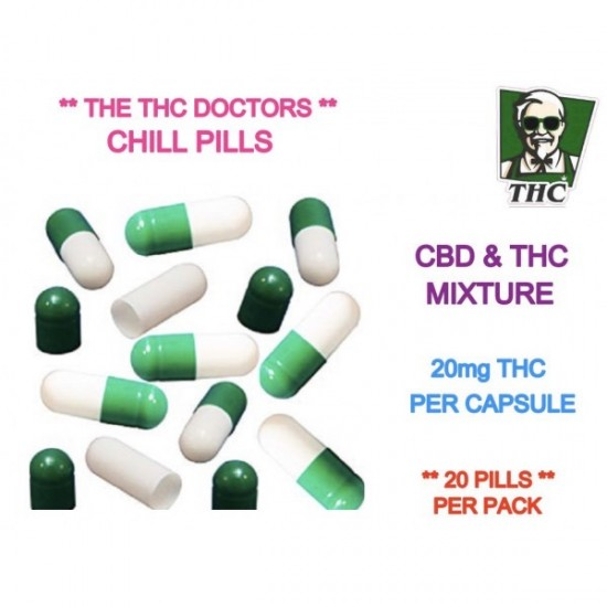 THC & CBD Chill Pills, Pack of 20 - 20mg THC