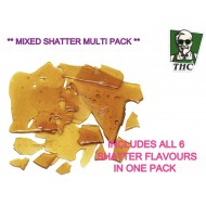 Shatter, 0.5g x 6, Mixed Flavour Multi Pack, Canadian Import, Super High Quality